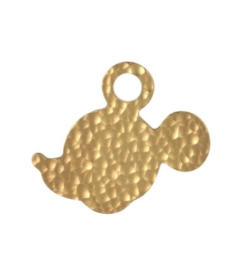 PREORDER  Dimpled Mickey Silhouette Pendant Gilt