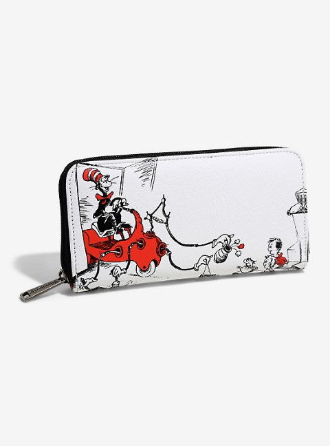 Dr Seuss - Cat in the Hat White Wallet - USA Exclusive