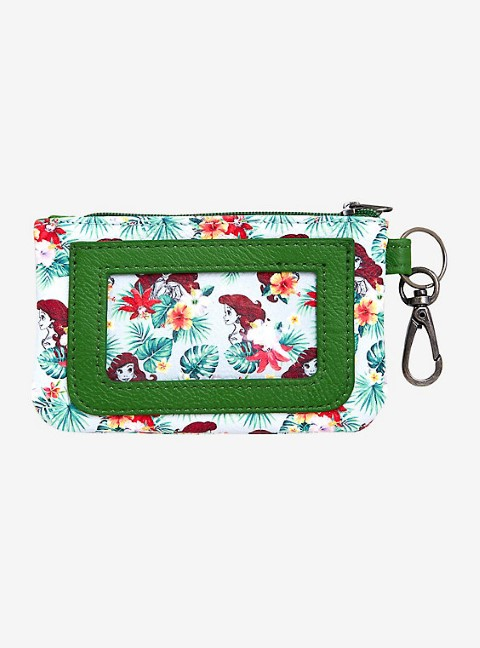 Little Mermaid Floral Ariel Key Ring ID Wallet