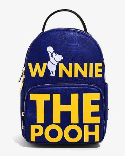 Winnie The Pooh Verbiage Mini Backpack  USA Exclusive