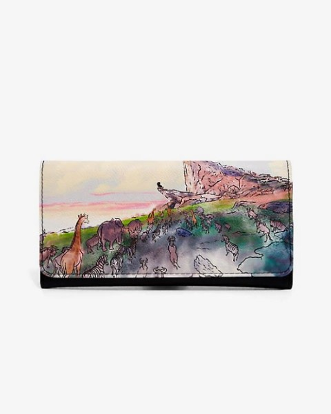 Lion King Pride Rock Watercolour Flap Wallet