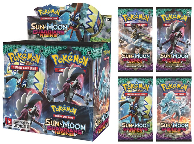 Pokemon Sun and Moon Guardians Rising Cards Pack
