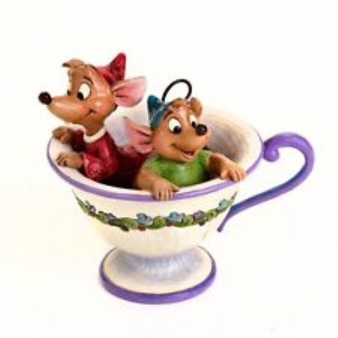 Jaq and Gus in Teacup - Tea For Two Figurine