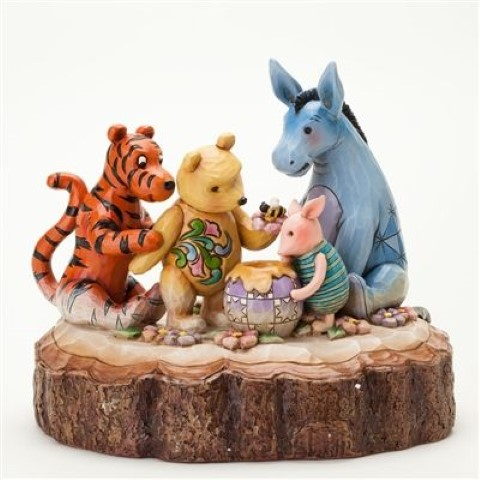 Pooh Carved by Heart Figurine - You Me and a Hunny Bee