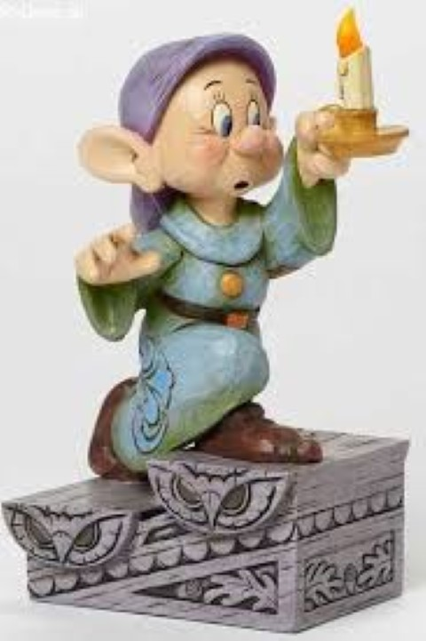 Dopey with Candle Figurine - A Light In The Dark
