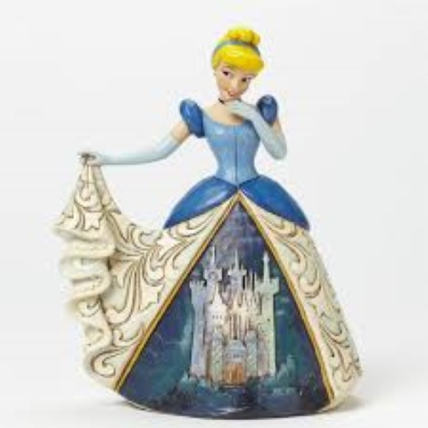 Cinderella with Castle Dress - Midnight At The Ball - Disney Traditions