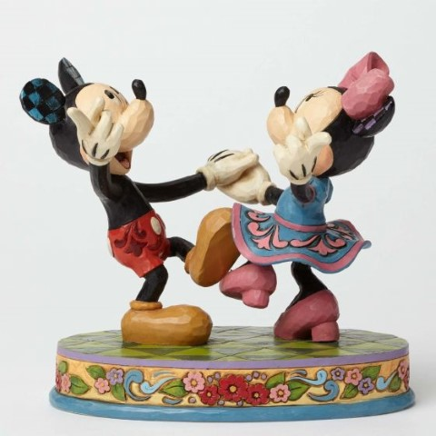 Mickey & Minnie Dancing Figurine - Swinging Sweethearts