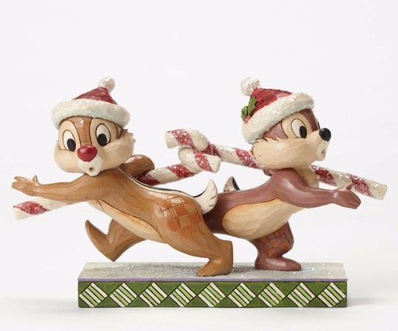 Chip and Dale Candy Cane - Candy Cane Capers Figurine