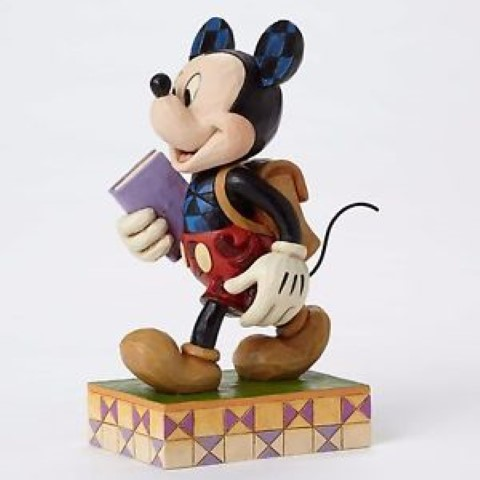 Mickey Back To School Figurine - Eager To Learn