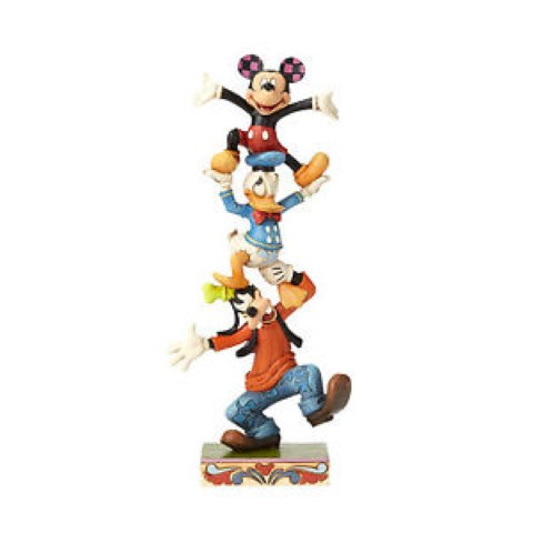 Goofy Donald and Mickey Stacked - Teetering Tower - Disney Traditions