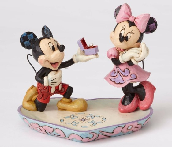 Mickey Proposing to Minnie Figurine - A Magical Moment