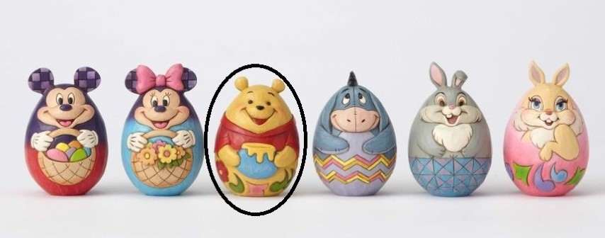 Character Egg Pooh  Jim Shore Disney Traditions