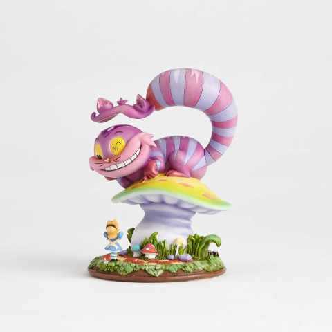 Cheshire Cat on Mushroom Figurine