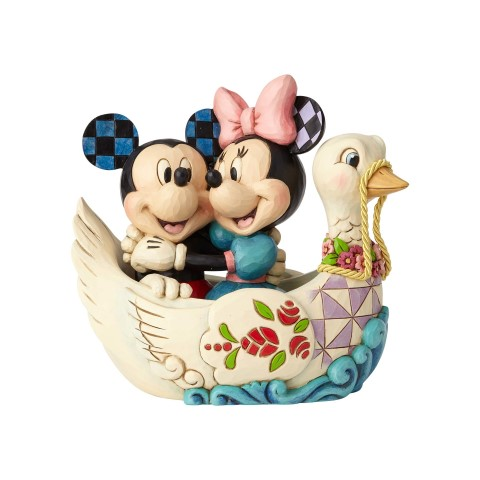 Lovebirds - Mickey and Minnie in Swan Figurine