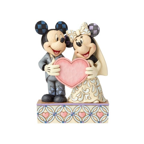 Two Souls One Heart - Wedding Mickey and Minnie Personalization Figurine