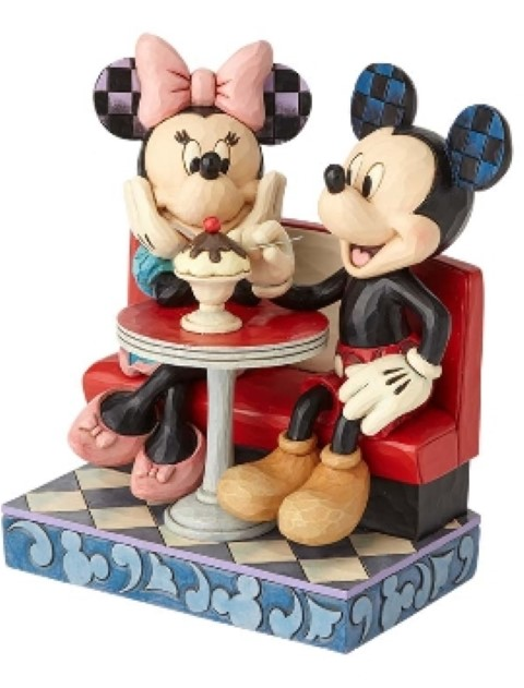 Mickey and Minnie Soda Shop Figurine - Love Comes in Many Flavors