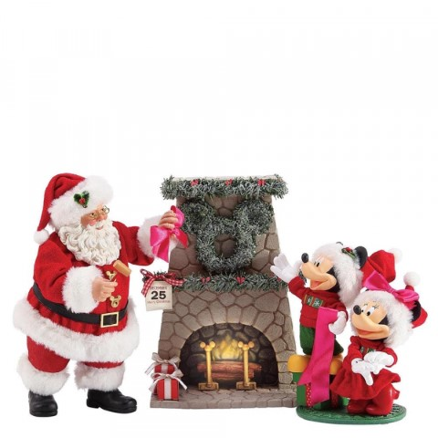 Mickey & Santa Hang The Perfect Wreath