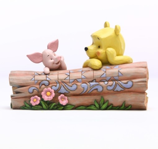 PREORDER  Pooh and Piglet by Log