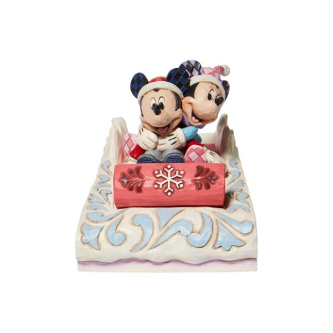 PREORDER Sledding Sweethearts Mickey and Minnie Sledding
