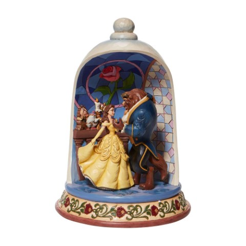 PREORDER Enchanted Love Beauty and The Beast Rose Dome