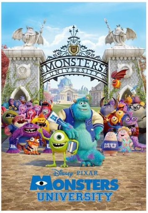PREORDER  Monsters University Campus Life Puzzle 500p
