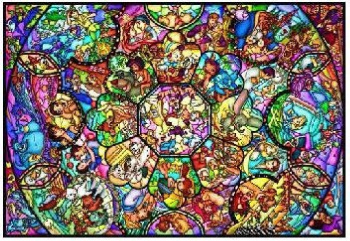 PREORDER  Disney All Star Stained Glass 1000pc