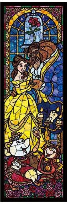 Beauty & The Beast Stained Glass 456pc
