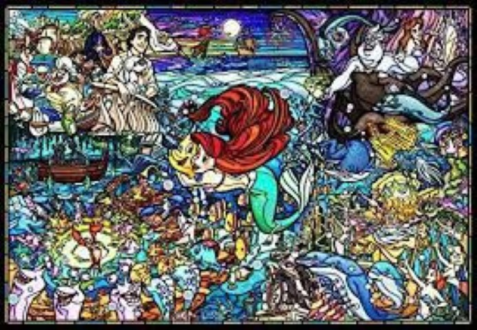 PREORDER  Little Mermaid Story Stained Glass 1000pc