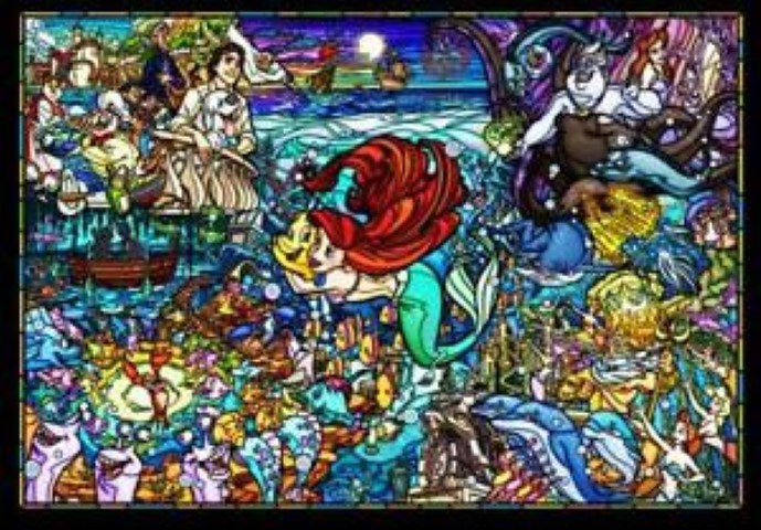 PREORDER  Little Mermaid Story Stained Glass 500pc