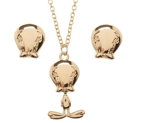 Tweety Necklace and Earrings Gift Box