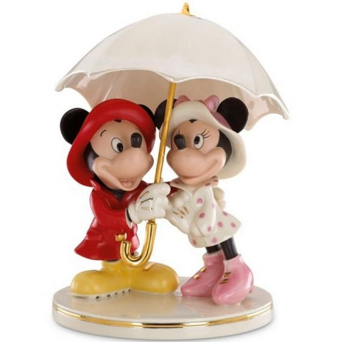 PREORDER  Mickey and Minnie Singing in the Rain Figurine
