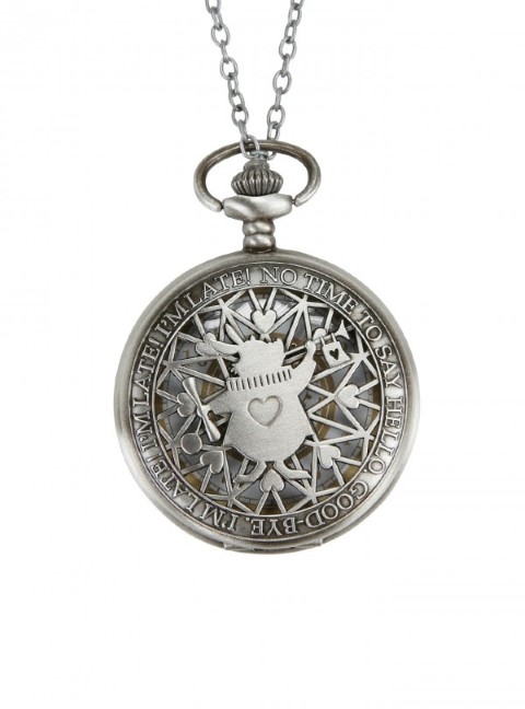 Alice in Wonderland - Late Rabbit Pocket Watch Necklace