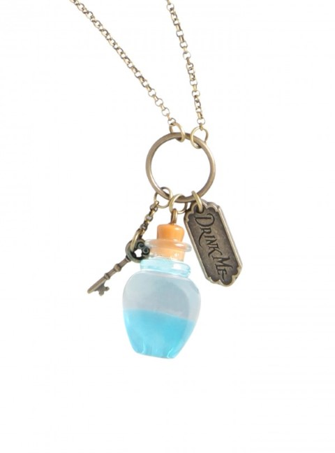 Alice in Wonderland - Curiouser Bottle Necklace
