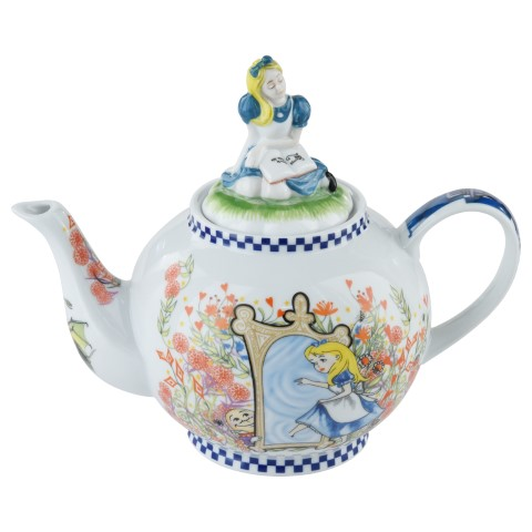 Alice in Wonderland Teapot with Alice Lid 6 cup
