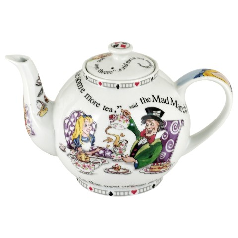 Alice in Wonderland Teapot 4 cup