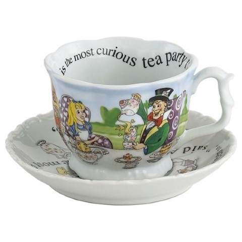 Alice in Wonderland Breakfast Cup and Saucer