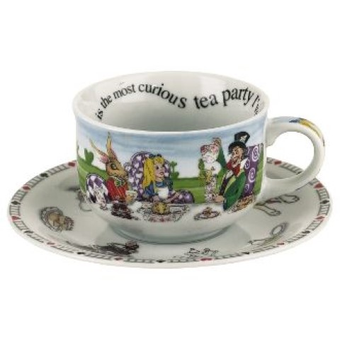 Alice in Wonderland Teacup and Saucer Set of 2