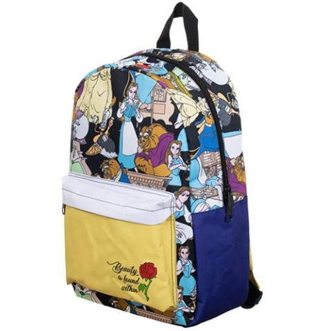 Beauty & The Beast Characters Print Backpack
