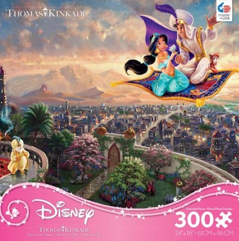 Disney Thomas Kinkade  Aladdin Puzzle 300pc