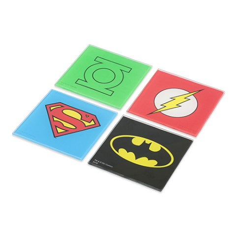 Superhero Coasters Set of 4