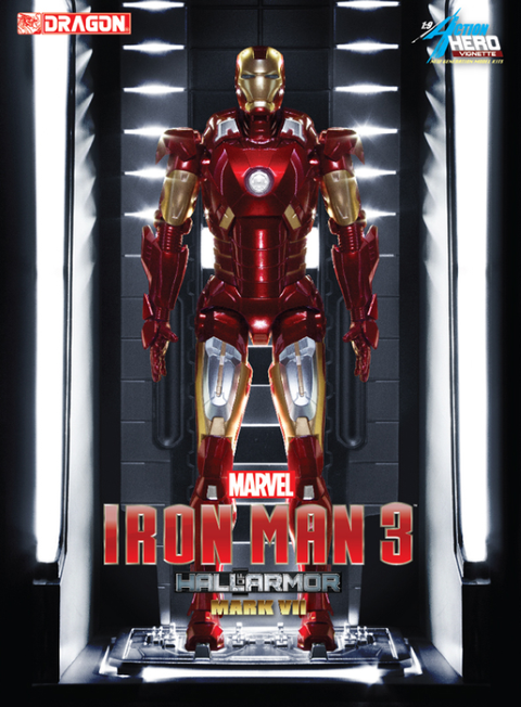 PREORDER  Iron Man 3  Hall of Armour Mark VII Model Kit Vignette