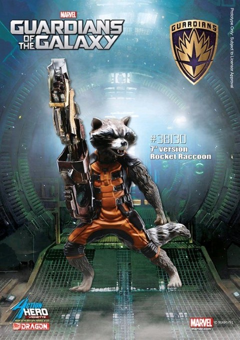 PREORDER  Guardians of the Galaxy Rocket Raccoon Model Kit Vignette