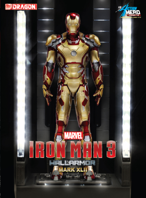PREORDER  Iron Man 3  Hall of Armour Mark XLII Model Kit Vignette