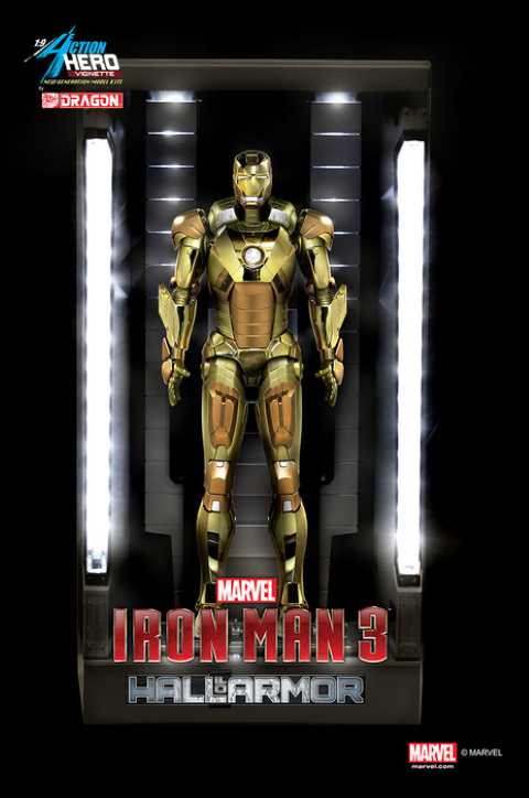 PREORDER  Iron Man 3  Hall of Armour Mark XXI Model Kit Vignette