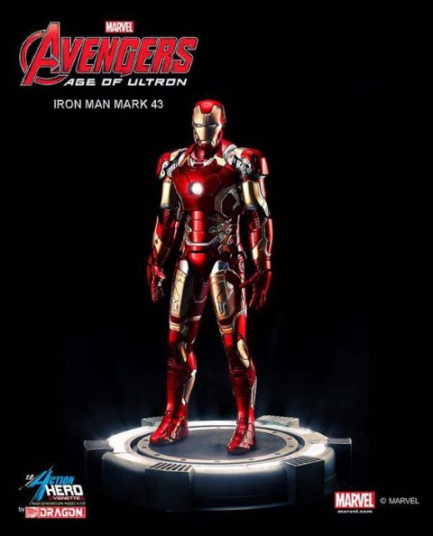PREORDER  Avengers 2 Age of Ultron Iron Man XLIII Multi Pose Model Kit Vignette