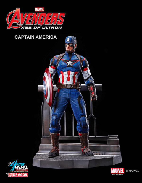PREORDER  Avengers 2 Age of Ultron Captain America Model Kit Vignette