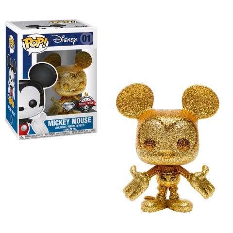 Mickey Mouse  Mickey Gold Diamond Glitter Pop Vinyl