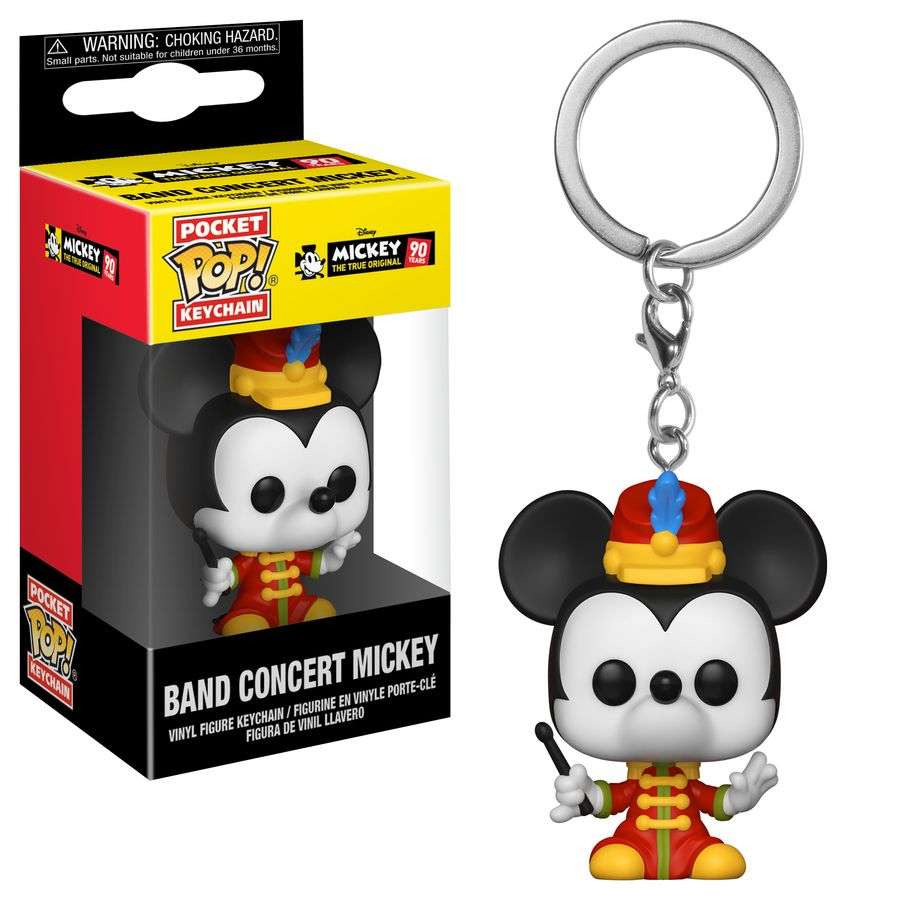 Mickey Mouse 90th Band Concert Mickey Pop Keychain