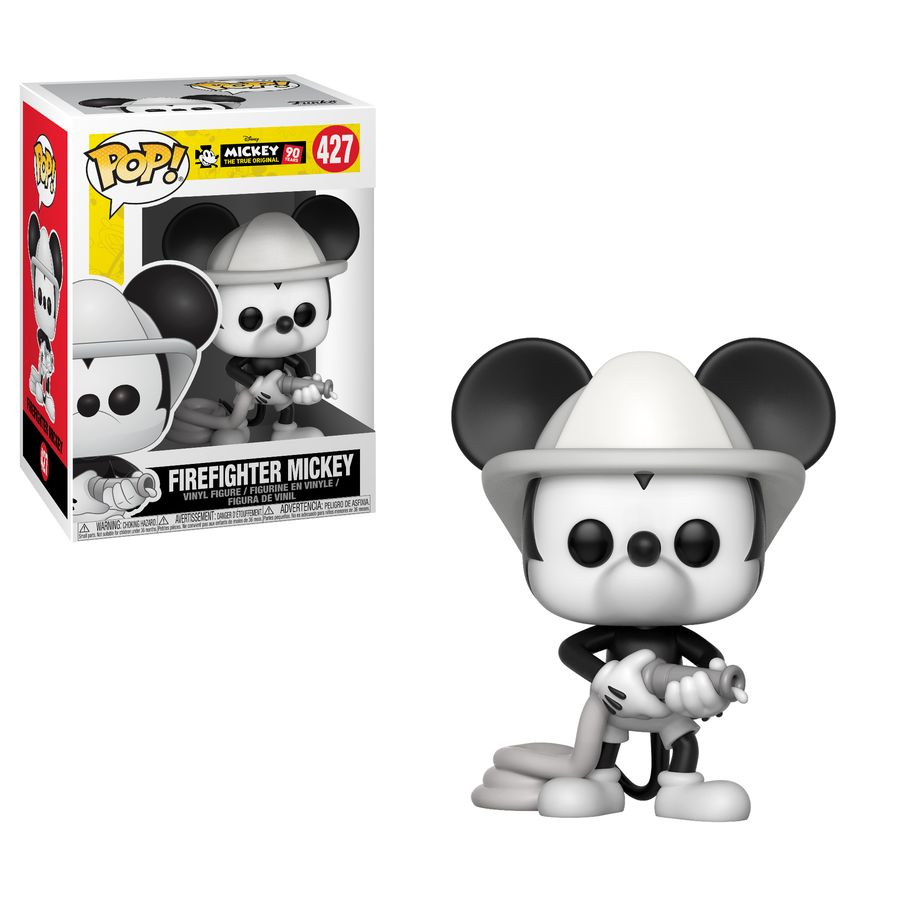 Mickey Mouse 90th Firefighter Mickey Pop Vinyl
