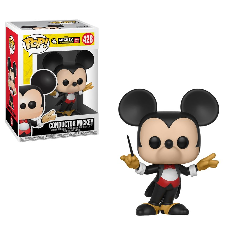 Mickey Mouse 90th Conductor Mickey Pop Vinyl